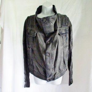 NEW RICK OWENS DRKSHDW Leather Cotton Jacket